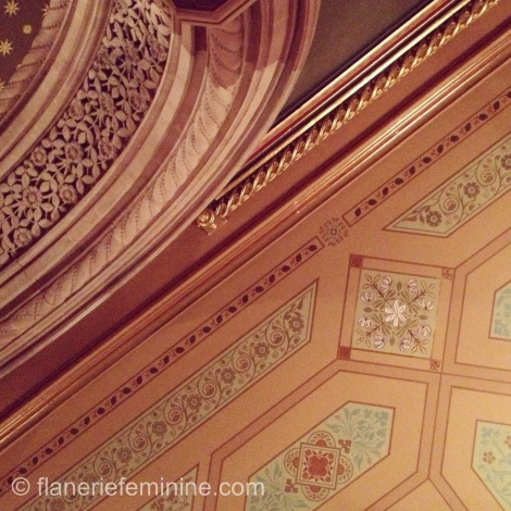 The Ladies' Smoking Room - ceiling detail