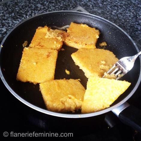 Polenta in a pan